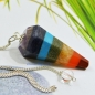 Preview: Chakra Pendel mit Bergkristall