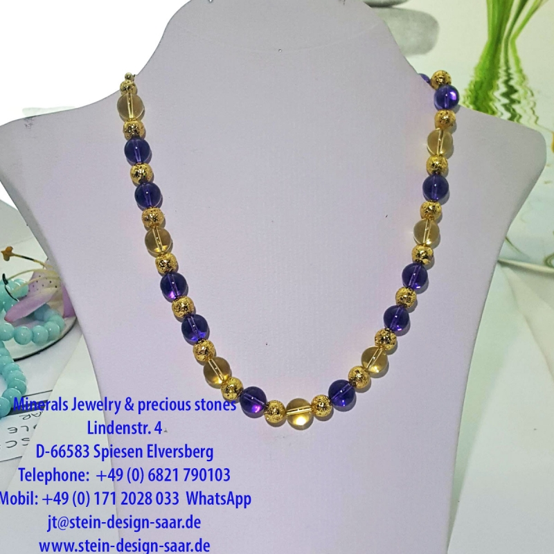 Ametrin Gold deluxe Collier