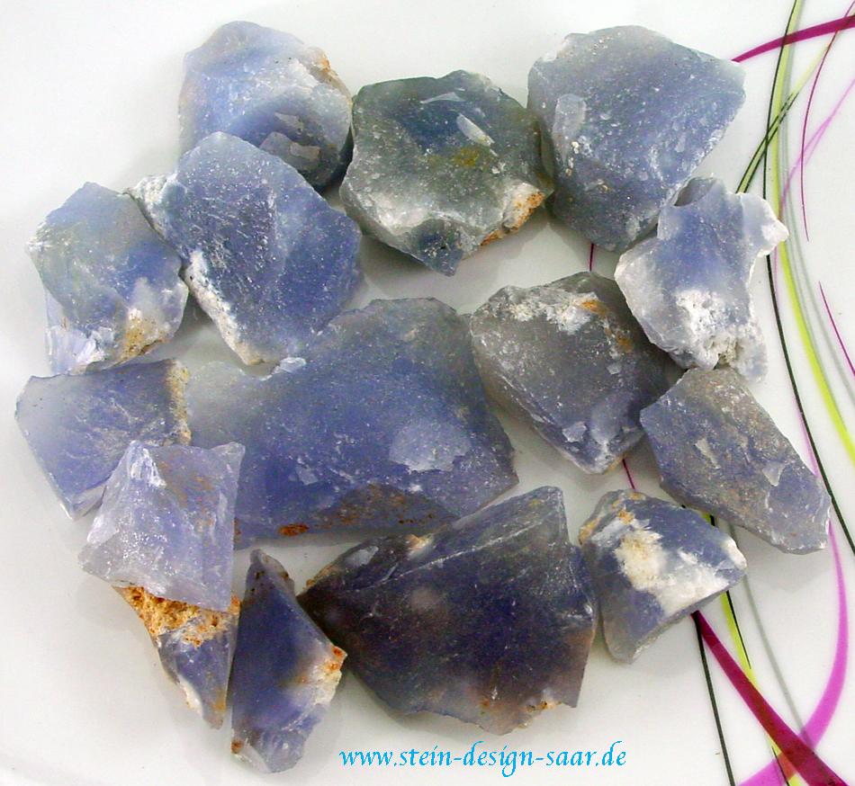 Stein Design Saar Achat Blau Wassersteine Trinksteine