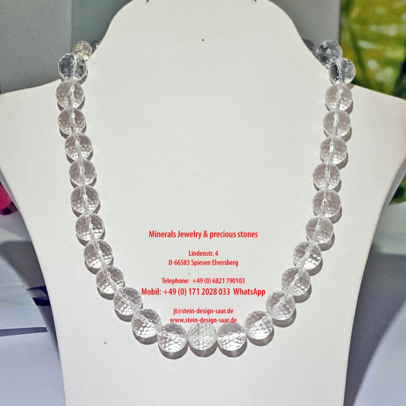 Bergkristall facettiert Motion Collier